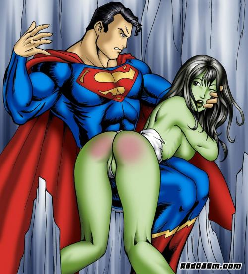 Superman Teaches She Hulk A Lesson About Being Naughty With Super